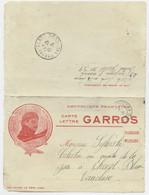 CARTE LETTRE FM ROLAND GARROS LE HEROS PRISONNIER TRESOR ET POSTES 39 18 DEC 1915 - FM-Karten (Militärpost)