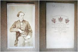 PHOTO CDV 19 EME HOMME ELEGANT  MODE  Cabinet  AUGUSTE MURIEL   A PARIS - Old (before 1900)
