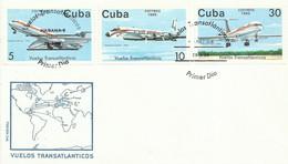 CUBA, SOBRE PRIMER DIA AEREO , AÑO  1988 - Cartas