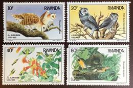 Rwanda 1985 Audubon Birds Owls Missing Perf MNH - Unclassified