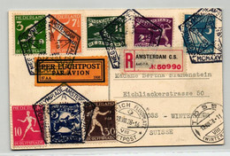 Amsterdam 1928 - Laufen, Boxen, Rudern, SST Stadion, Luftpost Schweiz Reko, Postcard Carte Postale Olympiade Olympic - Summer 1912: Stockholm