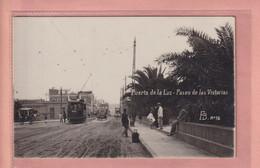 OLD POSTCARD - SPAIN - ESPANA -    TRAM - PUERTO DE LA LUZ - ANIMATED - Gran Canaria