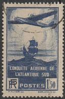 France 1936 N° 320 100 ème Traversée De L'Atlantique-Sud Par Les Avions Postaux Français (H1) - Gebraucht