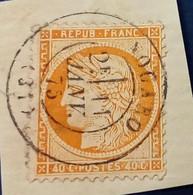 38 - 37 -  Sur Fragment CAD Du 11 Janvier 1875 Nogaro 31 Gers - 1870 Assedio Di Parigi