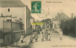 37 Louans, Entrée Du Bourg, Groupe D'enfants Au 1er Plan, Affranchie 1913 - Andere Gemeenten