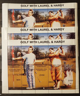 TUVA GOLF WITH LAUREL &HARDY 1995/  3 SHEETS PERFORED MNH. - Golf