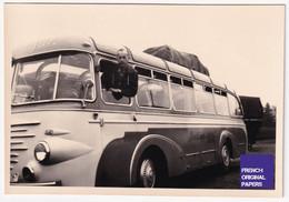 Bus à Identifier - Foto Thiele Kaisereiche 8,5x6cm - 1950s Photo Autobus Car Autocar Voyage Berliner Berlin D2-265 - Andere