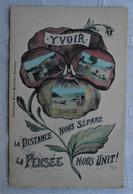 CPA 1907  Yvoir / Photomontage / Pensée - Yvoir