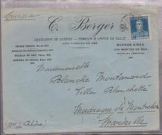 """LSC  De BUENOS AIRES Pour MARSEILLE - ENV. ILLUSTREE """" ELIXIR BERGER"""" TB - Briefe U. Dokumente"""