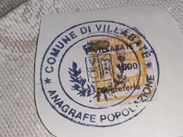 MARCA DA BOLLO DIRITTI DI SEGRETERIA COMUNE DI VILLABATE LIRE 1000 - Fiscaux