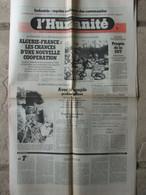 Journal L'Humanité (1er Décembre 1981) Algérie-France - Chez Les Gruss - Aérospatiale Marignane - 1950 - Nu