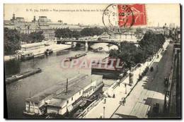 CPA Paris Vue Panoramique De La Seine Vers Le Louvre - Distrito: 01