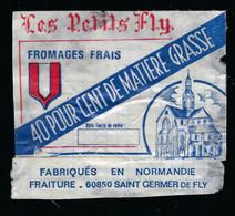 Etiquette Fromage Frais Les Petits Fly 40%mg  Normandie Fraiture  St Germer De Fly Oise 60 - Formaggio