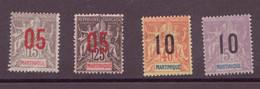 ⭐Martinique N° 78 à 81**⭐ - Unused Stamps