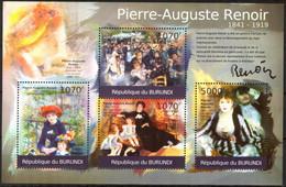 {BUR037} Burundi 2012 Art Paintings P.-A. Renoir Sheet MNH** - 2010-..: Ungebraucht