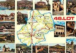 46 - LE LOT - CARTE -  DEPARTEMENT - MICHELIN - Non Classés