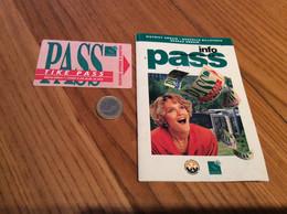 """Ticket De Bus CGFTE PASS """"TIKÉ PASS 1 Voyage"""" - Nancy (54) + Livret (20 Pages) Supplément Guide Bus 1994 - Europe"""