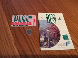 """Ticket De Bus CGFTE PASS """"TIKÉ PASS 1 Voyage"""" - Nancy (54) + Livret (44 Pages) Guide Bus 1994 - Europe"""