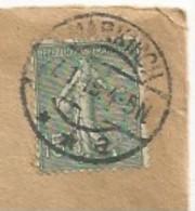 R896 - MARKIRCH Sur 15 Centimes SEMEUSE - 27 Janvier 1919 - Pour STRASSBURG - SAINTE MARIE AUX MINES - - Alsace Lorraine