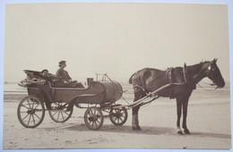 PHOTO ANNEES 1920 ATTELAGE BORD DE MER BERCK SUR MER PAS DE CALAIS 17 Cm X 26,5 Cm - Unclassified