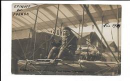 CARTE PHOTO COURSE CAP FERRAT ET RETOUR EFIMOFF SUR FARMAN - Aeronautica – Aeroporto
