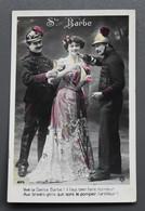 Fantaisie - Femme Avec Sapeurs-pompiers - Sainte-Barbe - Vers 1910 - - Brandweer