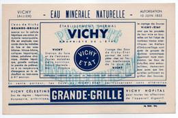 - BUVARD VICHY - EAU MINÉRALE NATURELLE - GRANDE-GRILLE - - E