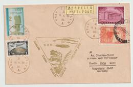 étiquette Zeppelin Luft.Post+ Cachet Graf Zeppelin A Sur 2 Lettres Avec Timbres D'Allemagne, D'Argentine Et Du Vénézuela - Sammlungen