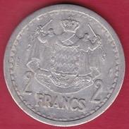 Monaco - Louis II - 2 Francs Aluminium (1943) - 1922-1949 Louis II.
