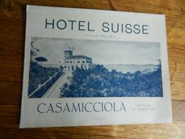 CASAMICCIOLA -ISOLA D'ISCHIA  :DEPLIANT DE L'HOTEL SUISSE EN PLUSIEURS LANGUES - Andere