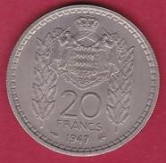 Monaco - Louis II - 20 Francs - 1947 - 1922-1949 Louis II.