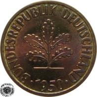 LaZooRo: Germany 10 Pfennig 1950 D UNC - 10 Pfennig