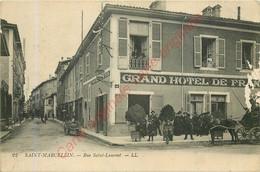 38.  SAINT MARCELLIN .  Rue Saint Laurent . ( Grand Hotel De France ) . - Saint-Marcellin