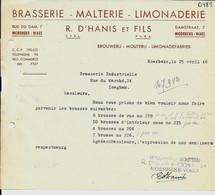MOERBEKE - WAES  -  BRASSERIE , Malterie , Limonaderie  R . D'HANIS Et Fils  PVBA  1946 - Food
