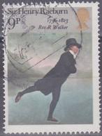 Großbritannien 1973. Reverend Robert Walker Beim Schlittschuhlaufen, Gemälde Von Sir H. Raeburn, Mi 627 Gebraucht - Usados