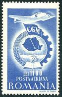 Roumanie Romania 1947 Congrès Syndical Congress Lockheed Super Electra - Aerei