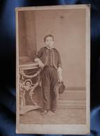Photo CDV Eugène De Paris à Toulon - Jeune Garçon, Louis Courbassier, Second Empire Circa 1860 L354A (2) - Oud (voor 1900)
