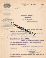 59 4289 LOUVROIL LEZ MAUBEUGE NORD 1926 BRASSERIE MALTERIE Mr BOURGEOIS Succ FONTAINE Rue Dorlodot Dest DEBOUCHE Lille - 1900 – 1949