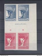 Litauen Michel Cat.No. Mnh/** 459/460 Combo Imprint - Lituania