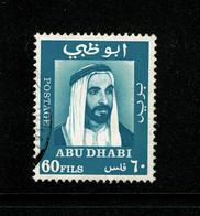 Ref 1457 - 1967 Abu Dhabi 60 Fils- Used Stamp - SG 40 - Abu Dhabi