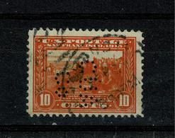 Ref 1457 - 1913 USA - 10c San Francisco Used Perfin CUA & Co Stamp - SG 426 - Perforados