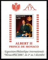 "MONACO 2006 : Feuillet N° 92 (n° 2560) -  ""  Portrait Du Prince Avec Armoiries "" - Neuf** - - Neufs"