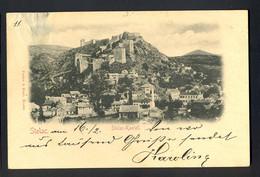 BOSNIA AND HERZEGOVINA - Stolac-Kastell / Visible Damage In Upper Left Corner / Year 1898 / Long Line Postcard Circulate - Bosnie-Herzegovine