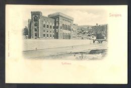 BOSNIA AND HERZEGOVINA - Sarajevo Rathhaus / Stengel 5106 / Year 1898 / Long Line Postcard Circulate - Bosnie-Herzegovine