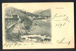 BOSNIA AND HERZEGOVINA - Narentathal, Schwarze Quelle / Stengel 5155 / Year 1898 / Long Line Postcard Circulate - Bosnie-Herzegovine