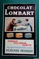 Publicite De Presse CHOCOLAT LOMBART  - 1912 - Publicidad