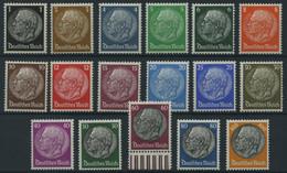 Dt. Reich 512-28 **, 1933/6, Hindenburg, Wz. 4, Prachtsatz, Mi. 80.- - Ungebraucht