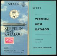 PHIL. KATALOGE Sieger: Zeppelin-Kataloge 1968 Und 1981, 19. Und 20. Auflage (viele Lose Seiten), Gebraucht - Philatelie Und Postgeschichte