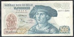 Belgium - 500 Francs 1971(11.05.71) - Pick   135b(2) - 500 Francs
