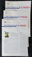 3 REVUES LES CHEMINS DE LA MEMOIRE - Zonder Classificatie